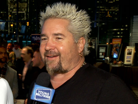 Guy Fieri Talks His Kids & Hugs It Out With Tommy Lee at Super Bowl Event