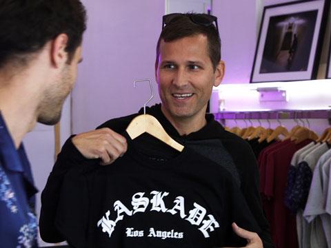 Kaskade's Pre-Show Pop-Up Shop