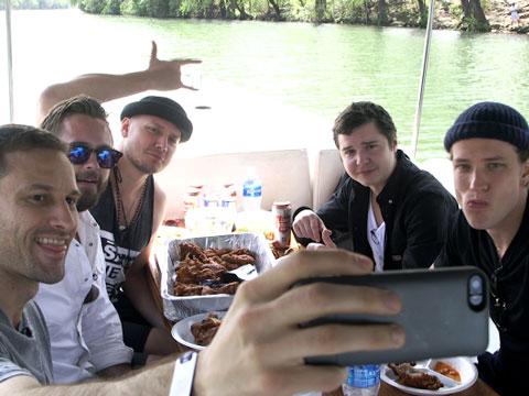 On a Boat with Lukas Graham
