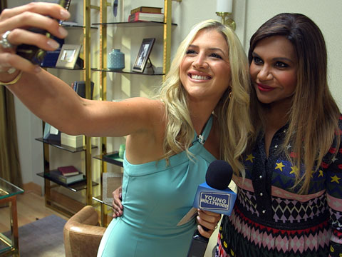 "On Set with Mindy Kaling and Her ""The Mindy Project"" Crew"