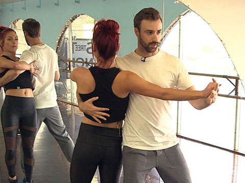 """DWTS"" Rehearsal with James Hinchcliffe & Sharna Burgess"