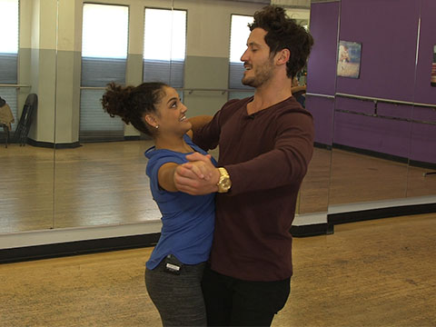 """DWTS"" Rehearsal with Olympic Gymnast Laurie Hernandez"