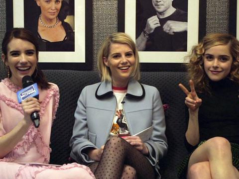 Horror Film Rapid Fire with Emma Roberts & Co-Stars
